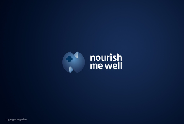 """Nourish me well"" corporate identity"