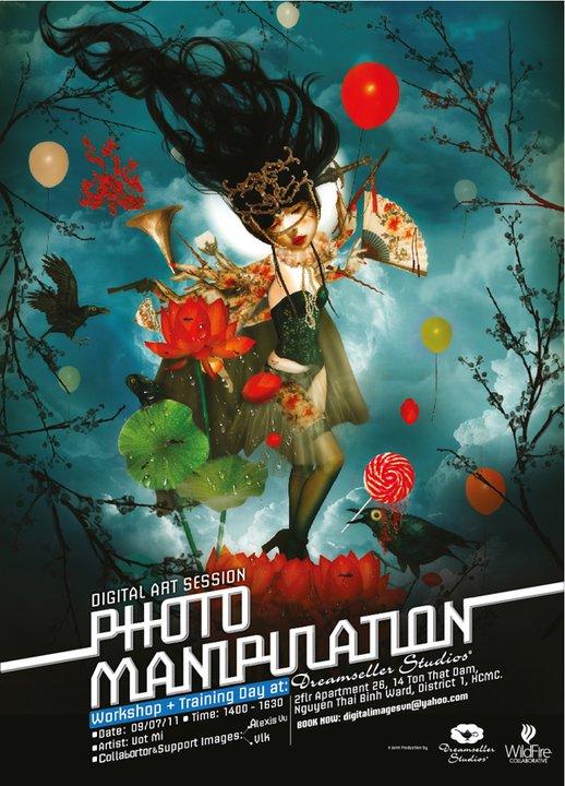 Workshop Photo Manipulation – nghệ sĩ Ướt Mi