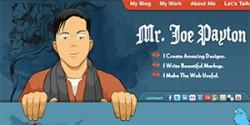 Website thiết kế theo phong cách hoạt hình