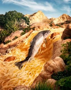Độc đáo nghệ thuật biến thực phẩm thành tranh phong cảnh (P.3)
