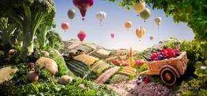 Độc đáo nghệ thuật biến thực phẩm thành tranh phong cảnh (P.1)