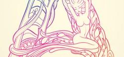 Những đường nét thăng hoa trong bộ chữ Vườn Thì Thầm của Thủy Mắt Tít