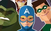 Những Siêu anh hùng trong thế giới phẳng (Flat Design)