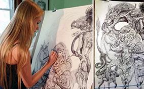Savannah Burgess và bức tranh vẽ 12 con giáp cực ngầu