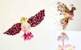 Bộ sưu tập nghệ thuật từ hoa của Flora Borager