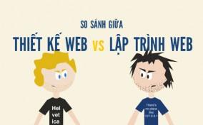 [Infographic] So Sánh Giữa Thiết Kế Web Vs Lập Trình Web