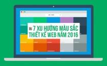 7 Xu hướng Màu Sắc cho Thiết Kế Web năm 2016