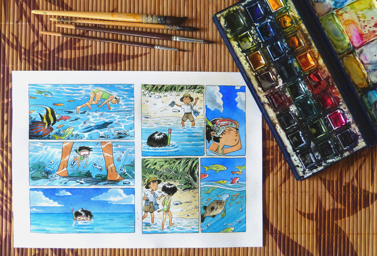 An Irabucha's Dream - watercolor minicomic by Atelier Sentô