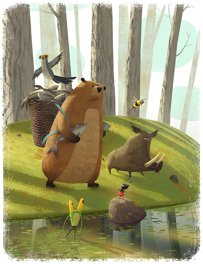 Illustrations for children book. by Gediminas Pranckevicius