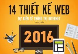 14 Thiết kế Web dự kiến sẽ thống trị Internet trong năm 2016