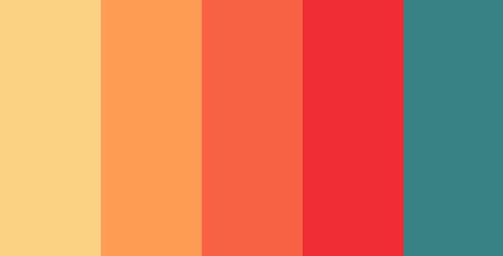 C ch s d ng gam m u n ng cho nh ng d n thi t k rgb for Gama de colores vivos