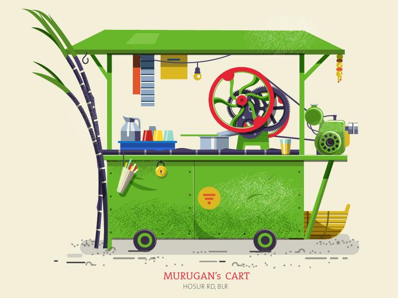 Thela 03 - Sugarcane cart by ranganath krishnamani