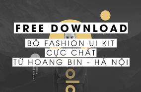 [Download] Bộ Fashion UI Kit cực chất từ Hoang Bin – Hà Nội
