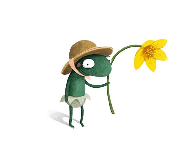 A Smile For Little Frog Illustration