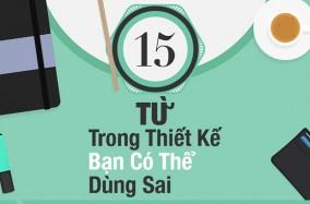 [Infographic] 15 từ trong thiết kế bạn có thể dùng sai