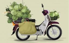 Vietnam Street Cart – Những chiếc xe hàng rong dưới nét vẽ minh họa