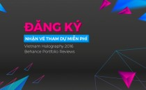 Tấm vé cực hot của Sự kiện Sáng tạo Vietnam Halography và Behance Portfolio Reviews 2016