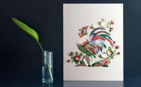 Gà Trống Đông Hồ qua nghệ thuật cắt giấy từ Bratus Agency