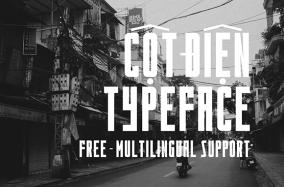 Cột Điện Typeface cho designer