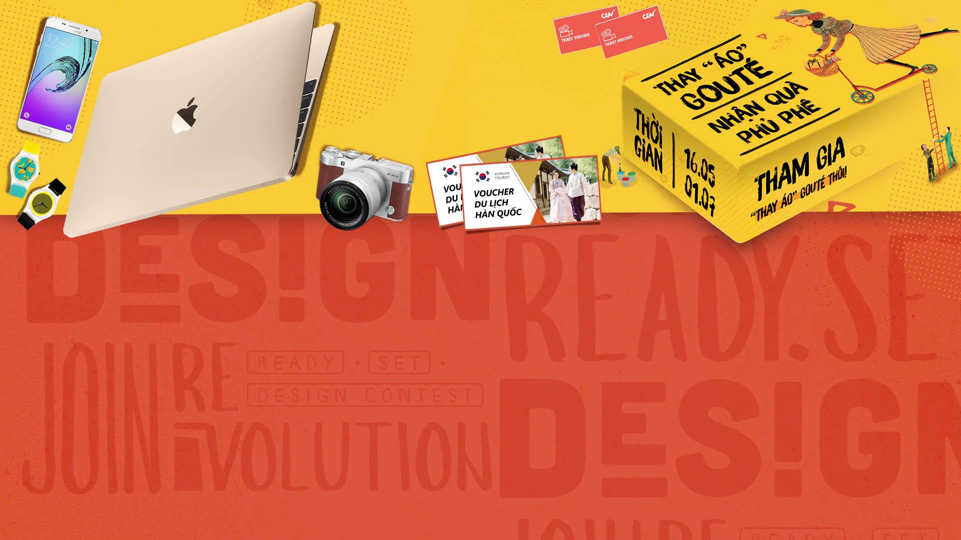 <h1>THAY ÁO GOUTÉ</h1><p>Thỏa sức sáng tạo với cuộc thi thiết kế typography cực ngầu cùng Gouté</p>