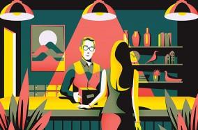 "Series tranh minh họa ""Essential Living"" của họa sỹ Jack Dally"