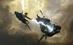 Tranh vẽ về lịch sử vùng đất Themyscira của phim Wonder Woman