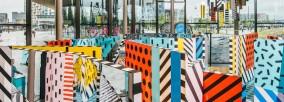 Mê cung đầy màu sắc của Camille Walala tại Now Gallery, London