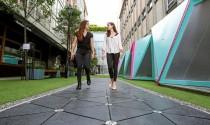 Mặt đường đi bộ thu năng lượng từ bước chân