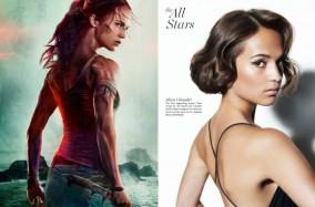"""Poster phim Tomb Raider 2018 bị người hâm mộ """"ném đá"""" vì Photoshop quá đà"""