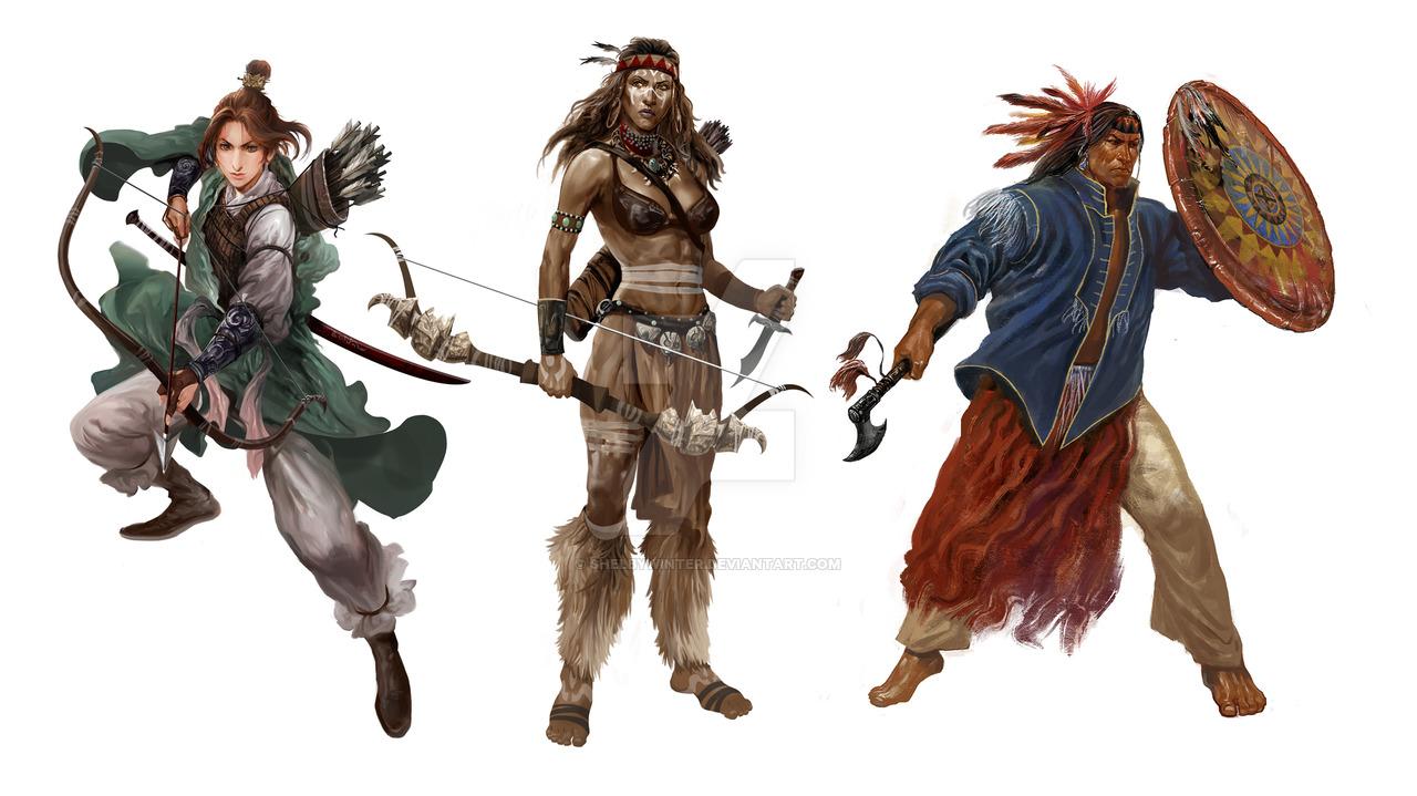 character_design___3_warriors_