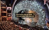 Thiết kế sân khấu Oscar 2018 với 45 triệu viên pha lê Swarovski