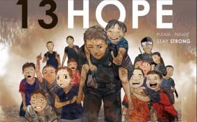 Dân mạng Thái vẽ tranh cầu nguyện phép màu cho đội bóng mất tích