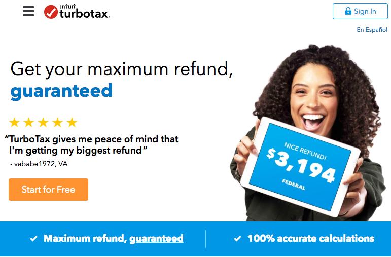 Trang miền Turbo Tax