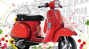 Bộ lịch Vespa 2012 ấn tượng của Creative Bay