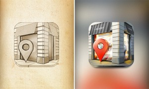 Những thiết kế icon từ phác thảo đến thành phẩm