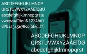 Phông chữ mới trong Apple Watch