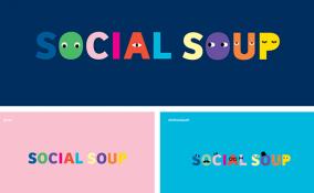 Social Soup và bộ nhận diện thương hiệu vui nhộn