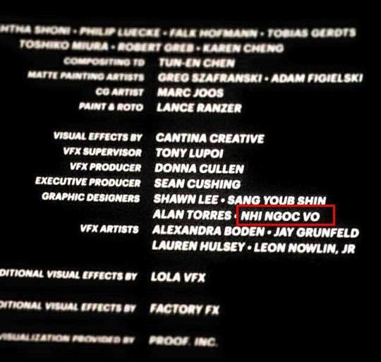 Công việc của Nhi là làm đồ họa động (GFX) cho Fast and Furious 7 - Ảnh chụp màn hình