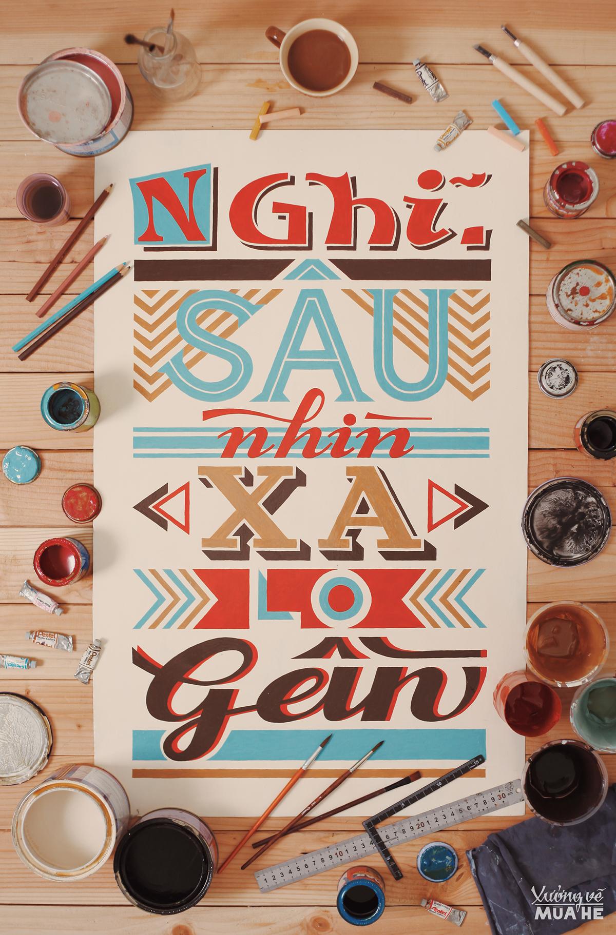 Retro Typography Sign 2 - Wild Wolf & Summer Art Studio