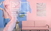 Tông màu của năm 2016: Rose Quartz và Serenity