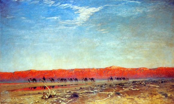 Maxfield Parrish – Đoàn buôn muối tại Biển Chết