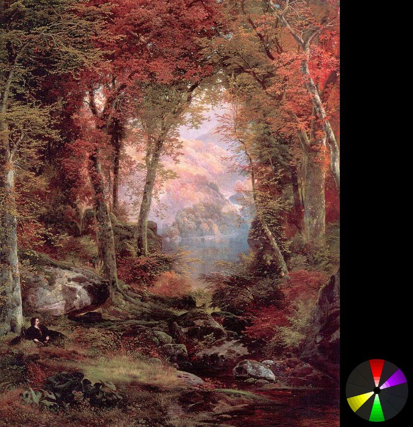 Thomas Moran – Rừng vào thu