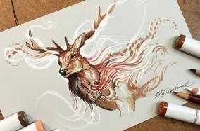Cái hồn của động vật hoang dã dưới nét vẽ của Katy Lipscomb