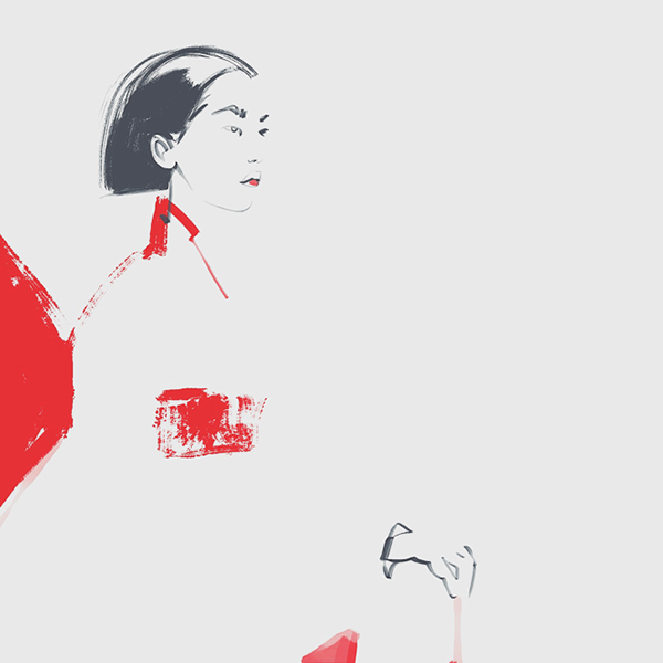 Illustration Served' Oriental beauty by Katerina Murysina