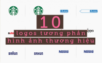 10 logos tương phản hình ảnh thương hiệu