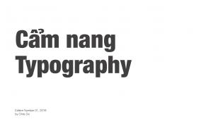 Cẩm nang Typography