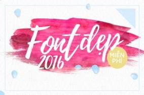 Free Fresh Fonts 2016 – Làm mới những thiết kế của bạn