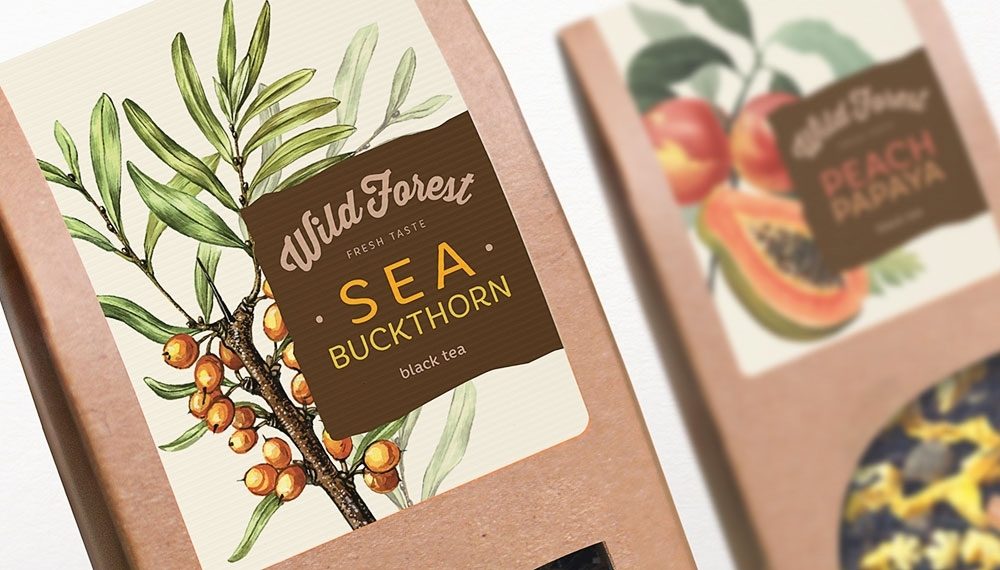 Wild Forest Tea by Sofya Ozbozkurt & Wellhead branding agency