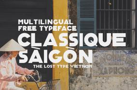 [FREE FONT] Classique Saigon Typeface bởi Manh Nguyen