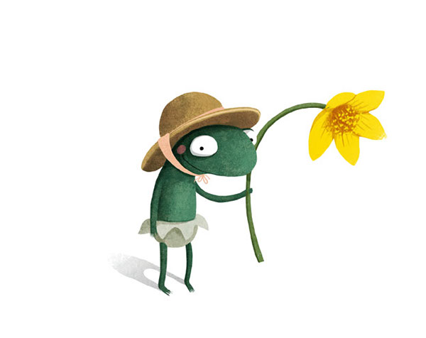 A Smile For Little Frog Illustration
